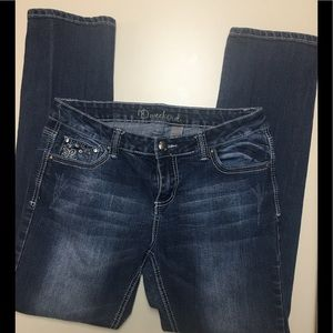 ND WEEKEND EMBROIDERED STRAIGHT JEANS SIZE 12